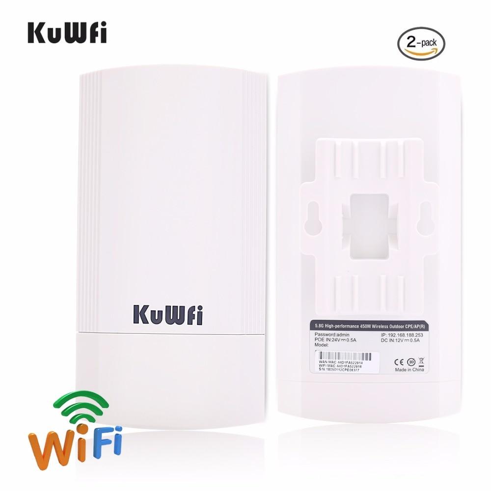 2 pièces 450 Mbps 5G Extérieure CPE Routeur Wi-fi Point D'accès WDS Sans Fil Wifi Pont 1-3 KM range Extender répéteur wi-fi Pour Caméra IP