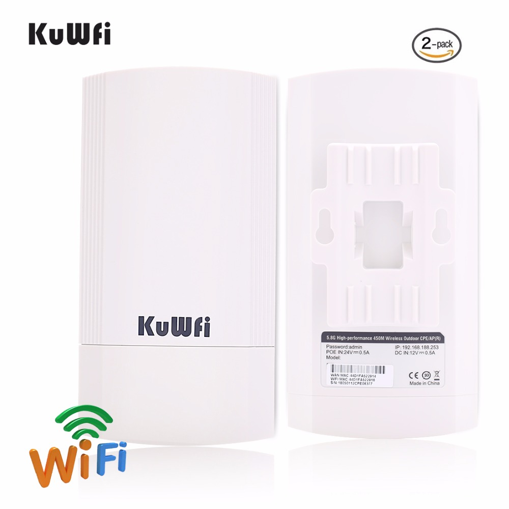 2Pcs 450Mbps 5G Outdoor CPE Router Wi-fi Access Point WDS Wireless Wifi Bridge 1-3KM Range Extender Wifi Repeater For IP Camera 1 pair comfast 300mbps outdoor cpe 2 4g wi fi access point wireless bridge 1 3km range extender cpe router repeate for ip cam