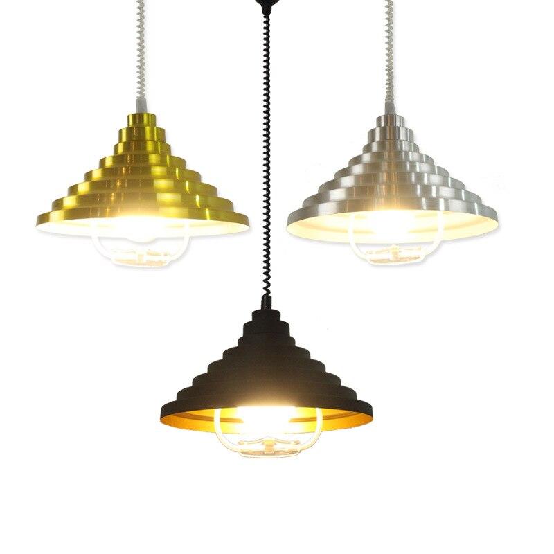 Image 5 - Vintage Loft Pendant Lights Wrought Iron Retro Edison Hanging Lamp Industrial Bar Living Room Chrome pendant Lamps ZDD0010-in Pendant Lights from Lights & Lighting