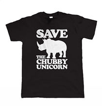 Save The Chubby Unicorn, Mens Funny T Shirt - Slogan Gift for Him Dad Grandad New Shirts Tops Tee Unisex