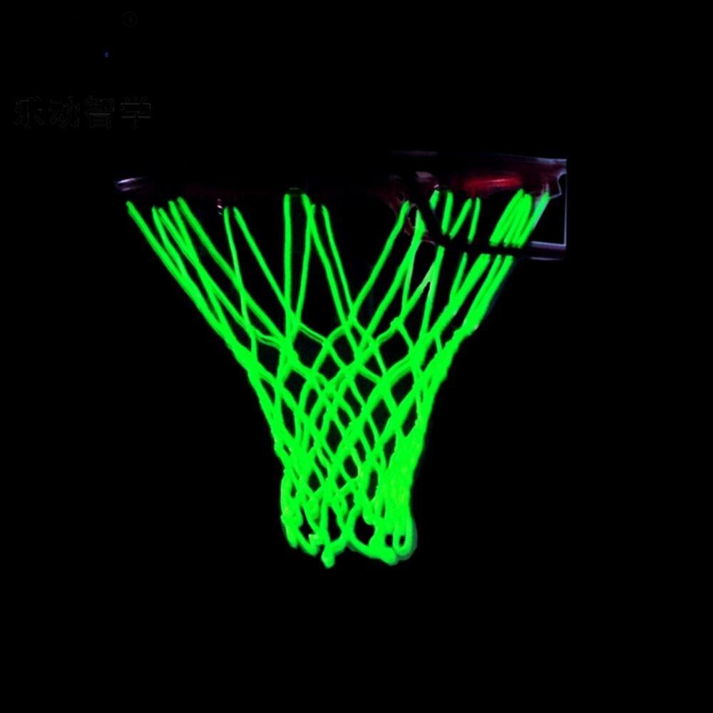 Light Luminous Basketball Net Light Up Basketball Net Heavy Duty Basketball Net Replacement Outdoor Shooting Trainning Pro