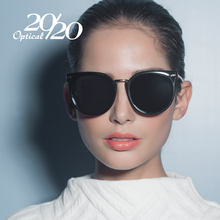 20/20 Classic Sunglasses Women Luxury Brand Designer Metal Temple Pink Lens Polarized Sun Glasses Vintage With Box Feminino 7052