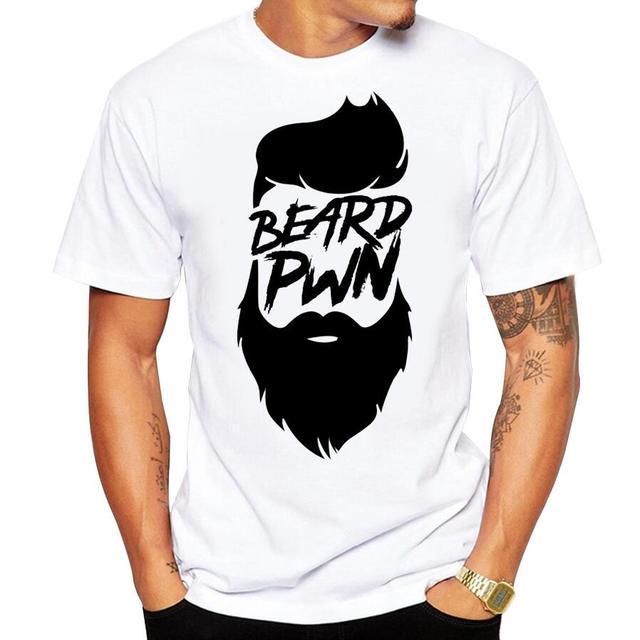 6dafd5ae bearded sign tshirt men soft monochrome beard t shirt homme short sleeve  plus size beards funny men's t-shirt no glue print