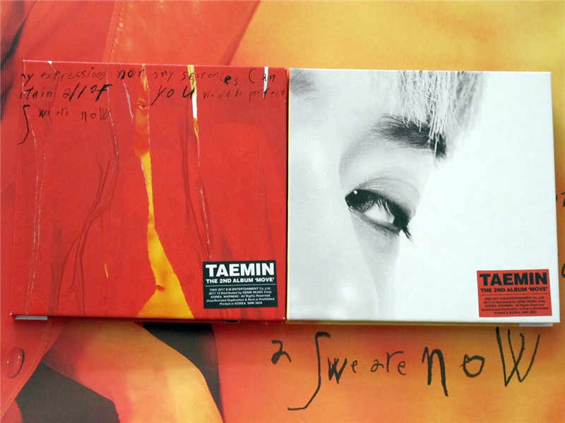 Ondertekend SHINEE Lee Taemin gesigneerde mini2nd album Bewegen K-POP 102017