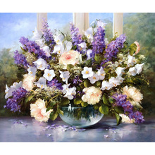 Beautiful DIY Digital Oil Painting Paint By Numbers Special Gift Flower Lavender Love Picture Hand