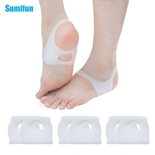 Sumifun 4 Pairs No Slip Shoes For Men And Women Insoles Pads Silicone Orthopedic O-type Foot Valgus D1258