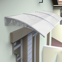 100x200cm Home Use Window Door Awnings,White color Bracket and Bronze Sheet Awnings HWC