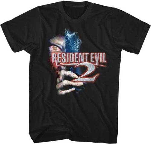 Resident Evil 2 Capcom Video Game Adult T Shirt Great Movie Short Sleeve Cool Casual