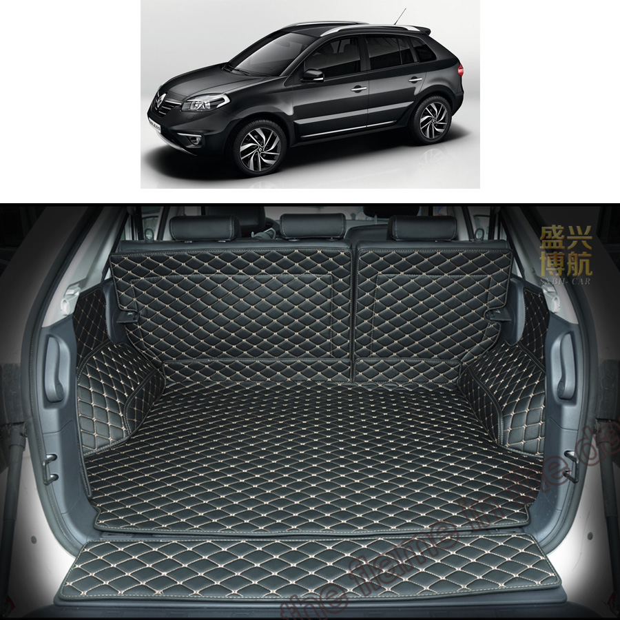 leather car trunk mat cargo mat for renault koleos Renault Samsung QM5 2008 2009 2010 2011 2012 2013 2014 2015 cargo liner car rear trunk security shield shade cargo cover for nissan qashqai 2008 2009 2010 2011 2012 2013 black beige