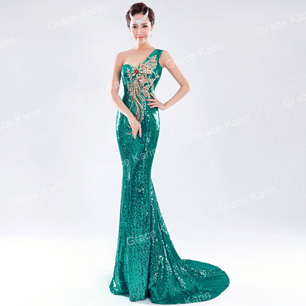 2017 fast delivery Purple Teal Green hot long sequin Prom Dresses ... 6b972a37ea5a