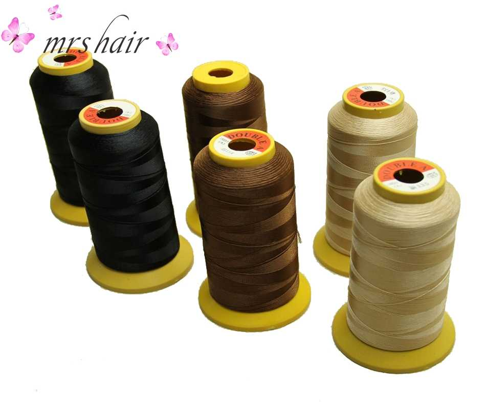 Haarverlenging Te/Salon Haar Weven Draad 1 Roll/lot Hoge Sterkte Polyester Draad voor Braziliaanse haarverlenging