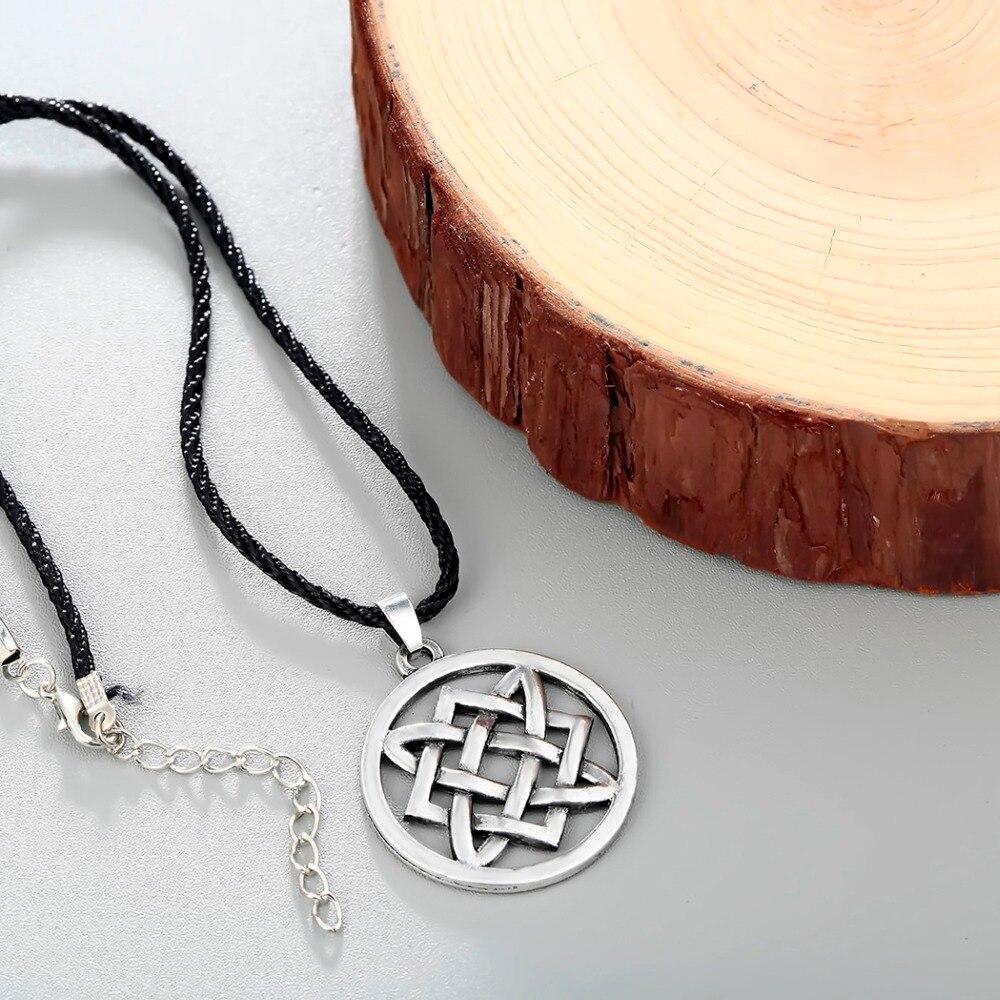 CHENGXUN Vintage Slavic jewelry Women Men Lada Star Pendant Necklace Adjustable Rope Chain Choker Collier Protection Amulet 2