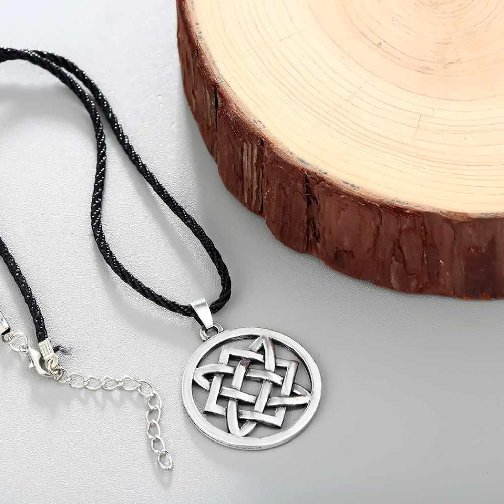 CHENGXUN w stylu Vintage biżuteria słowiańska kobiety mężczyźni Lada wisiorek w kształcie gwiazdy naszyjnik regulowany liny choker łańcuszek Collier ochrona Amulet