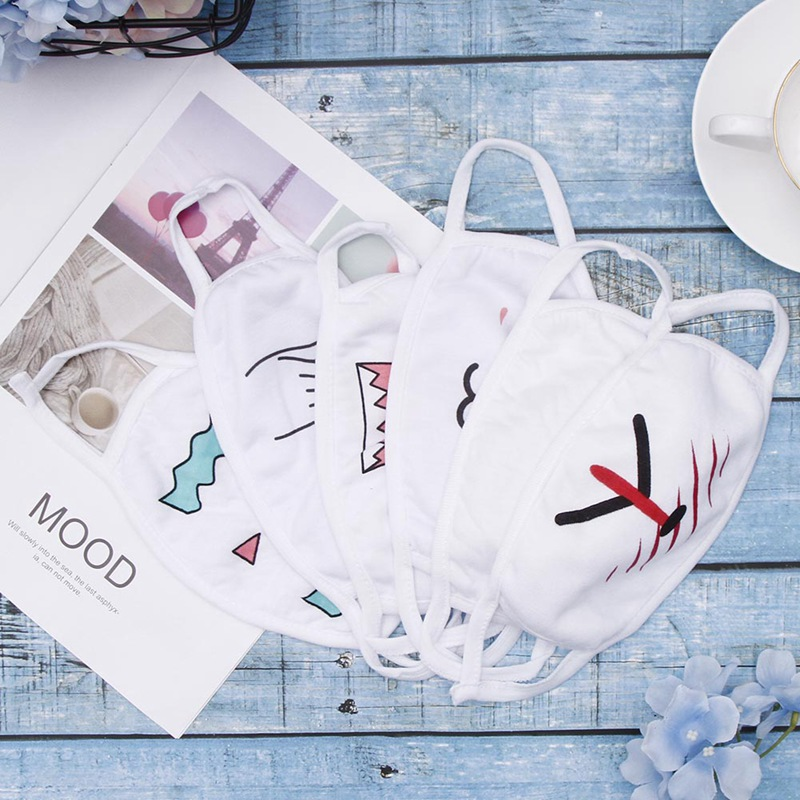 1PC BTS Mask Bloom Bangtan Boys Winter Mouth Face Text Mask Cute Hicken Facial Expression Text Mask