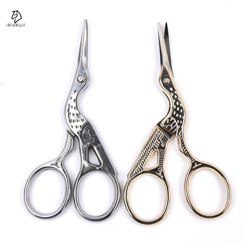 2 Colors Vintage Sewing Scissors Bronze Silver Gold Bird Style Stainless Steel Scissor Embroidered DIY Handicraft Tools Hot