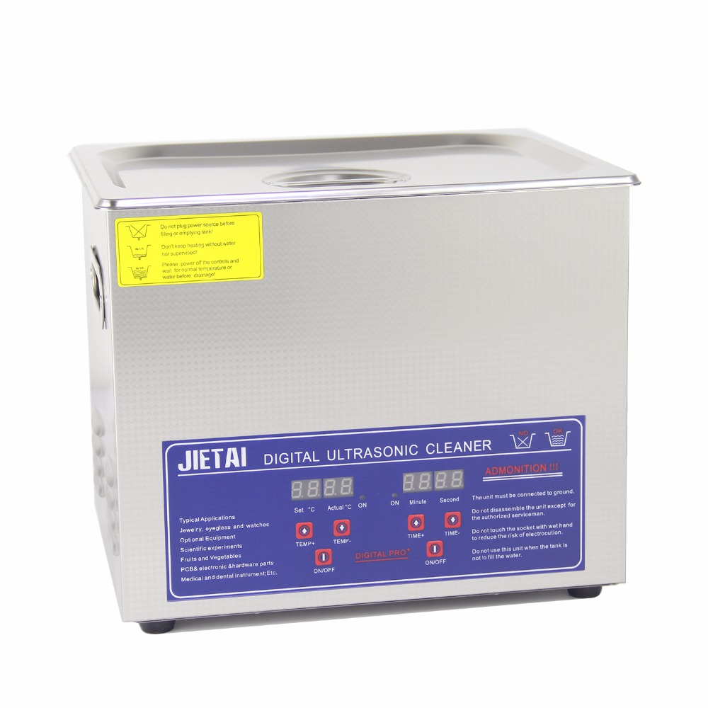 JIETAI Digital Ultrasonic Cleanning Bath 10L 240W 40kHz Ultrasonic Cleaner