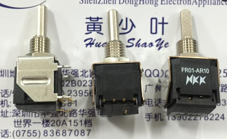 5PCS/LOT Spot open FR01AR10HB rotary dial code switch, 10 bit 0-9PCB encoding switch 660v ui 10a ith 8 terminals rotary cam universal changeover combination switch
