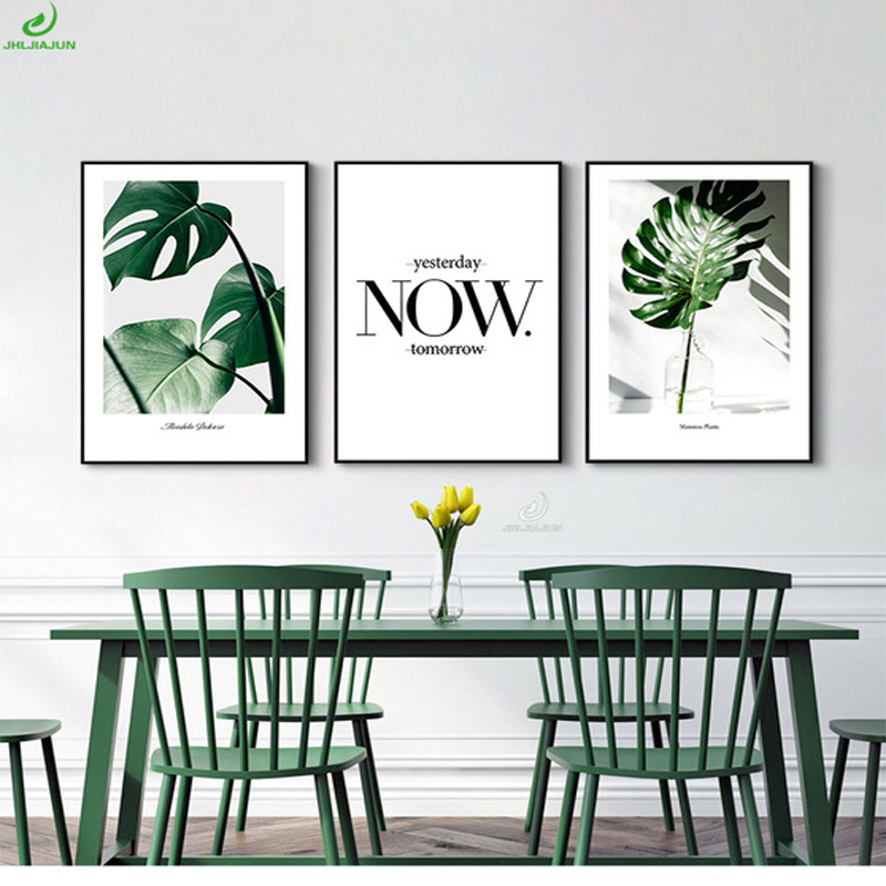Nordic Style Green Plant Posters Prints Leaf Wall Art ...