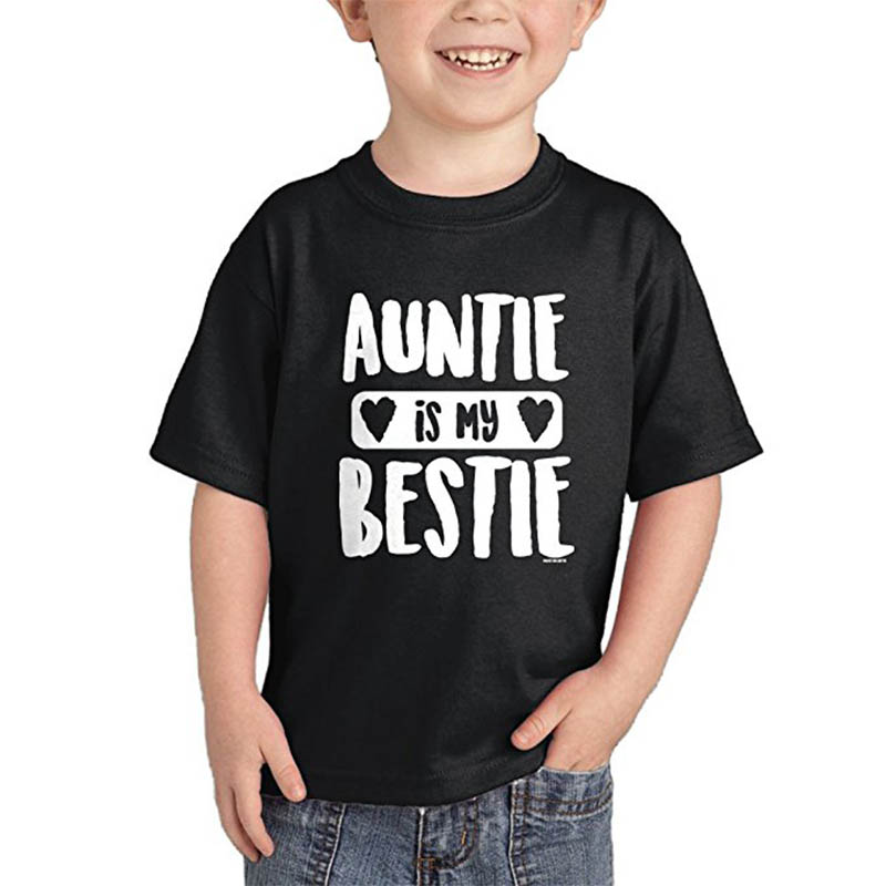 YSCULBUTOL 2018 Summer AUNTIE is my BESTIE More Color Unisex Short Sleeve Kids T-Shirts