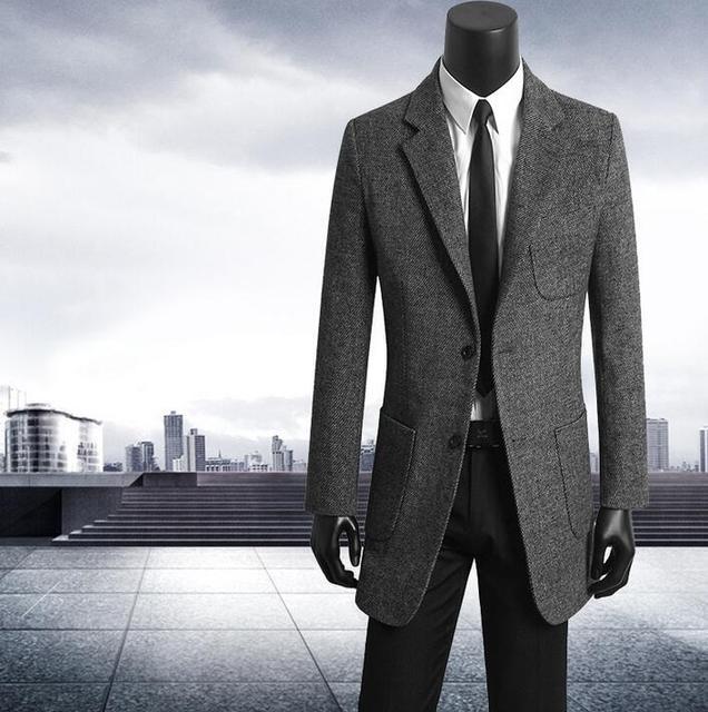 f5201b5ffe7f € 73.81 22% de DESCUENTO|Ropa coreana para hombre, trajes casuales jóvenes,  gabardina para hombre, abrigos de lana, abrigo para hombre, abrigos de ...