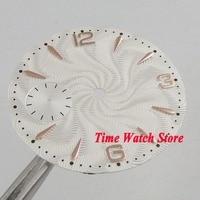 36.8mm white dial fit mechanical ETA 6497 movement Watch dial golden marks D129