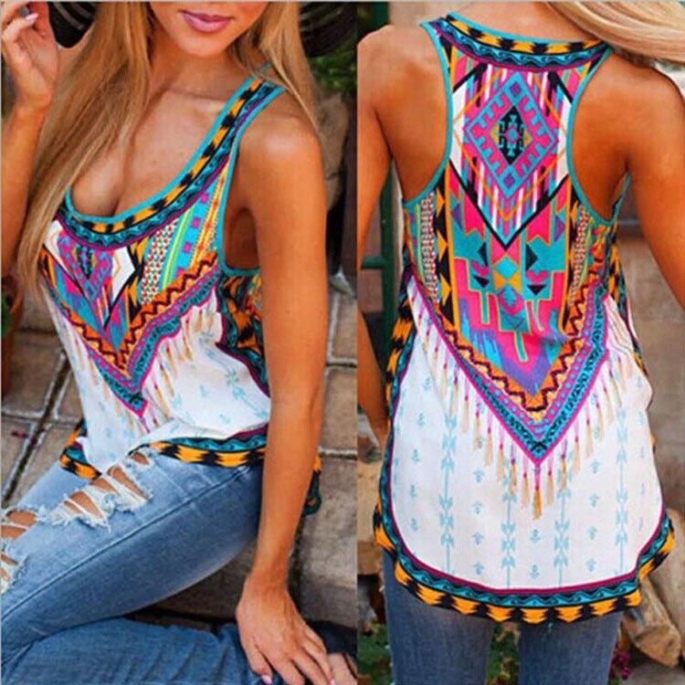 Tqnfs женская мода лето элегантный печати футболка основной о-образным вырезом без рукавов рубашки вскользь уменьшают бренда топы женские футболки плюс размер