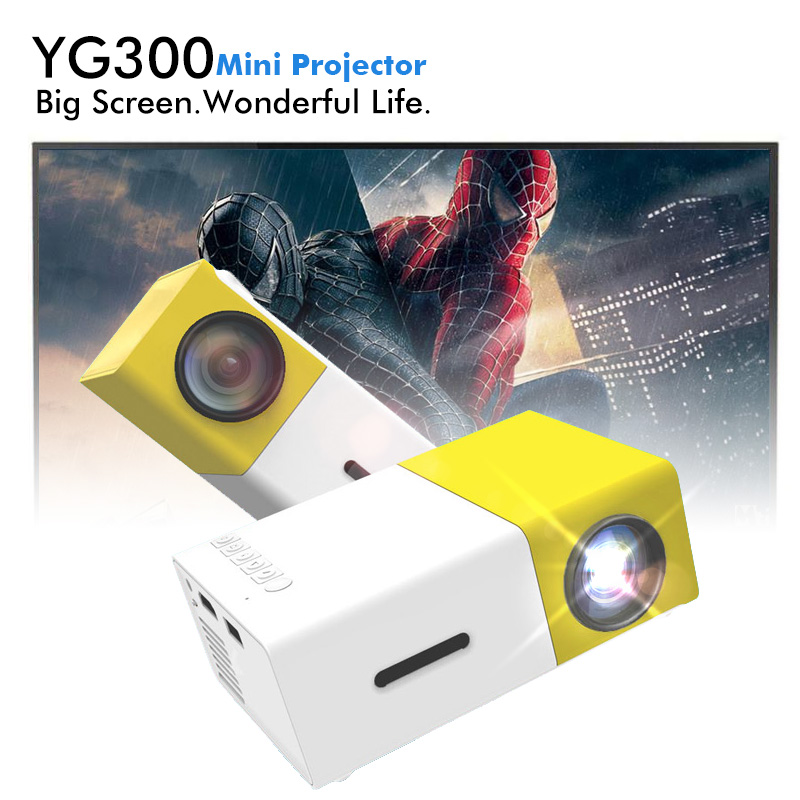 YG 300 YG300 LED Portable HD Projector 400 600LM 3 5mm Audio 320 x 240 Pixels