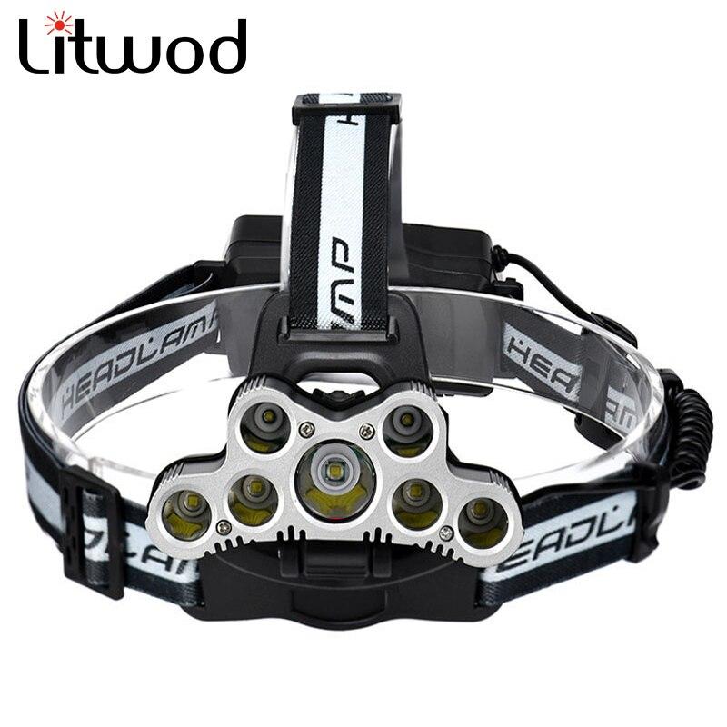 Litwod Z302309 USB 9 CREE LED Led Headlamp Headlight head flashlight torch cree XM-L T6 head lamp rechargeable for 18650 battery