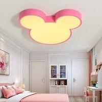 Led мультфильм потолочный светильник, Микки Мышь лампы, детская комната, для мальчиков и девочек, спальня классы, декоративная защита глаз ла