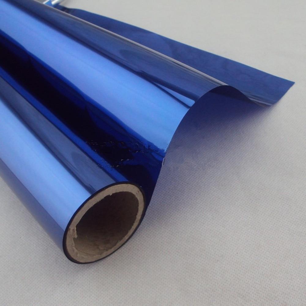 1,52x20 м двойная синяя изоляционная оконная пленка солнечные самоклеящиеся листы с оттенком защита от ультрафиолета одностороннее украшение конфиденциальности для стекла