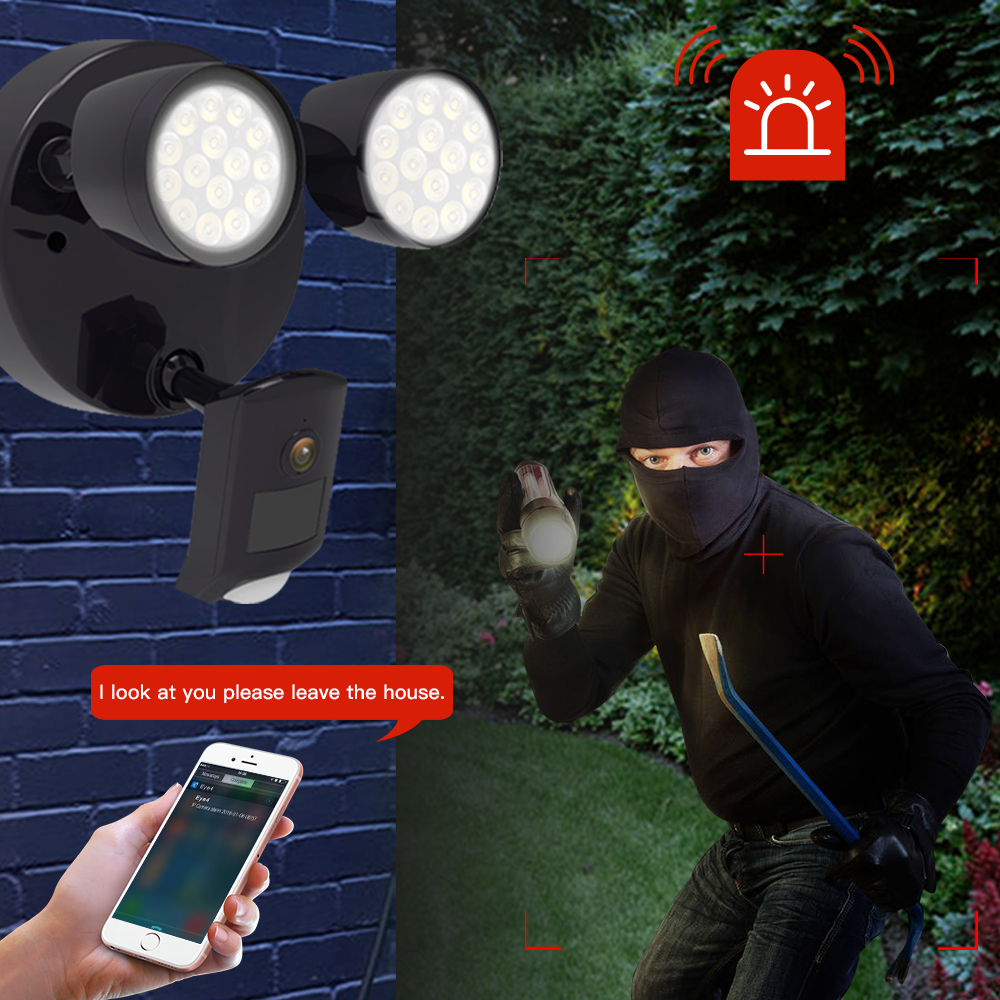 Image 3 - Vstarcam Outdoor HD 1080P LED Floodlight IP Camera Wifi Outdoor Waterproof Camera PIR Motion Detection Surveillance Security Cam-in Surveillance Cameras from Security & Protection