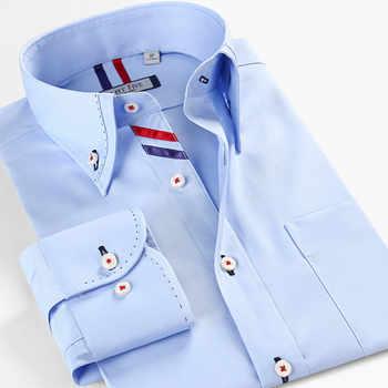 Smartfive Men Shirt 100% Cotton Casual Shirts White Camisa Masculina Long Sleeve Shirt Men Summer 2017 New SFL4K62 - DISCOUNT ITEM  8% OFF All Category