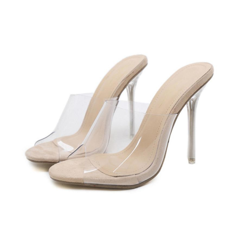 Drop shipping high heels sandals women Fashion Women Sandals Summer Shoes Party Crystal Transparent Hhigh Heel Slippers O0611#30
