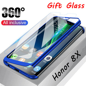 Case With Tempered Glass For Honor 8C 6X 7X 8X Max Play 7C Pro For Huawei Honor 7A 8A Pro 6C Pro 360 Full Protective Case Capa