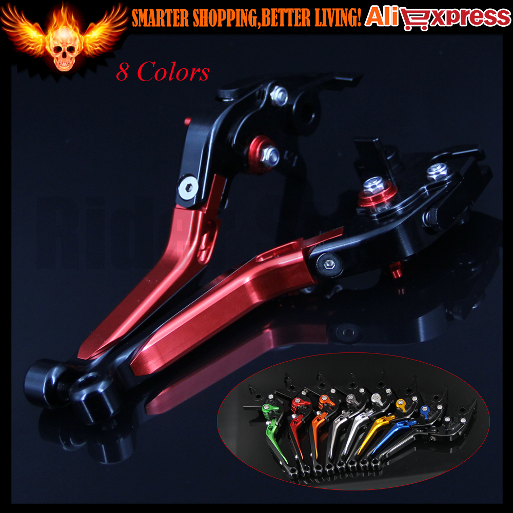 CNC Adjustable Folding Extendable Motorcycle Brake Clutch Levers For Suzuki SFV650 GLADIUS 2009 2010 2011 2012 2013 2014 2015 motorcycle cnc aluminum brake clutch levers for suzuki sfv650 gladius 2009 2015 dl650 v strom 2011 2012 gsr600 2006 2011