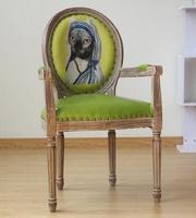 Real wood dining chair European leisure chair. Creative nail chair. Armchair