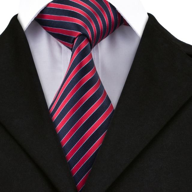 c7f27836923bb A-1504 Salut-Cravate Nouvelle Arrivée Classique Mens Cravates Marine Avec  Rouge Cravates Pour