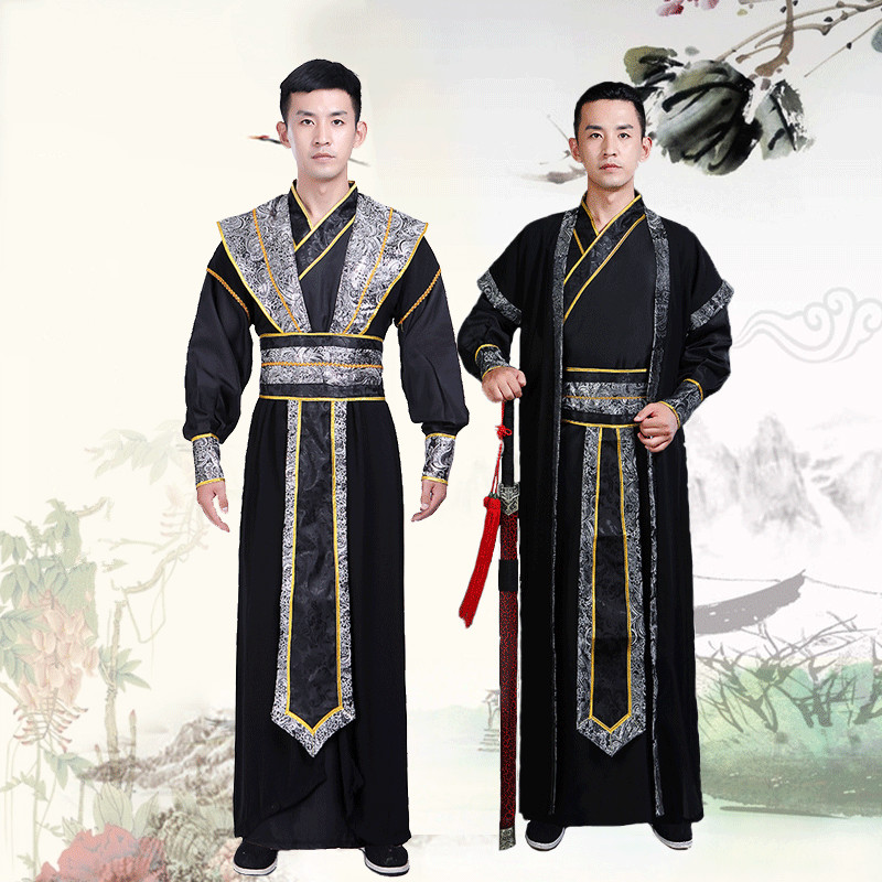 Hanfu Male Stage Costume Swordsman Tang Costume Scholar Clothes For Women Men Traditional Chinese Robe Performance Costumes