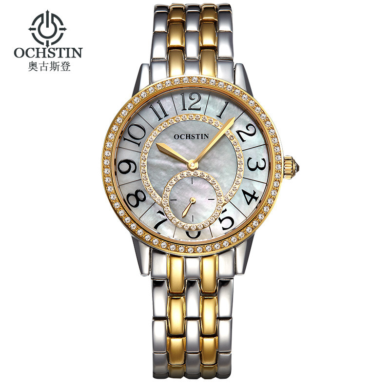 купить Fashion OCHSTIN Watch Women Clock 2017 Gold Wrist Watches Ladies Famous Luxury Brand quartz-watch Relogio Feminino Montre Femme по цене 3449.08 рублей