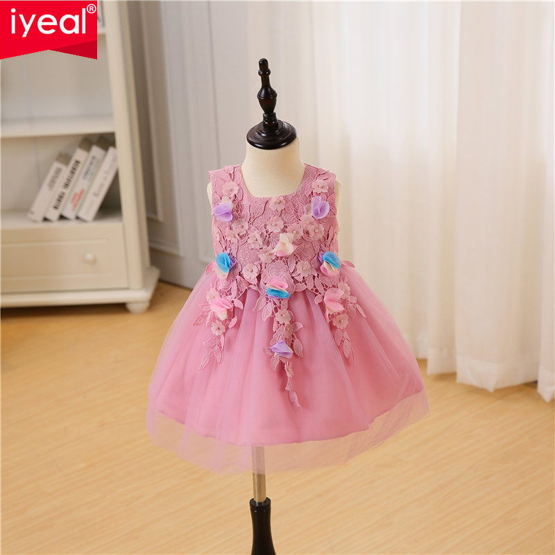 67280c9e2151 IYEAL High Quality Flower Princess Baby Dress for Infant Little Girl ...