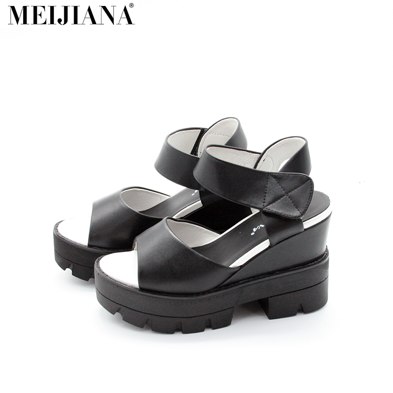 2017 Korean Women Platform Shoes Gladiator Woman Sandals Summer Hollow Out Weave Ladies Sandal phyanic 2017 gladiator sandals gold silver shoes woman summer platform wedges glitters creepers casual women shoes phy3323