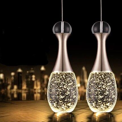 Pingente lâmpada moderna lâmpada led bolha de cristal de vidro do vintage luz pingente de moda minimalista hanglamp criativo sala de jantar lâmpada bar