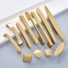 Luxury Elegant 10PCS European Solid Brass Kitchen Cabinet Door Handles Cupboard Wardrobe Drawer Pulls and Knobs