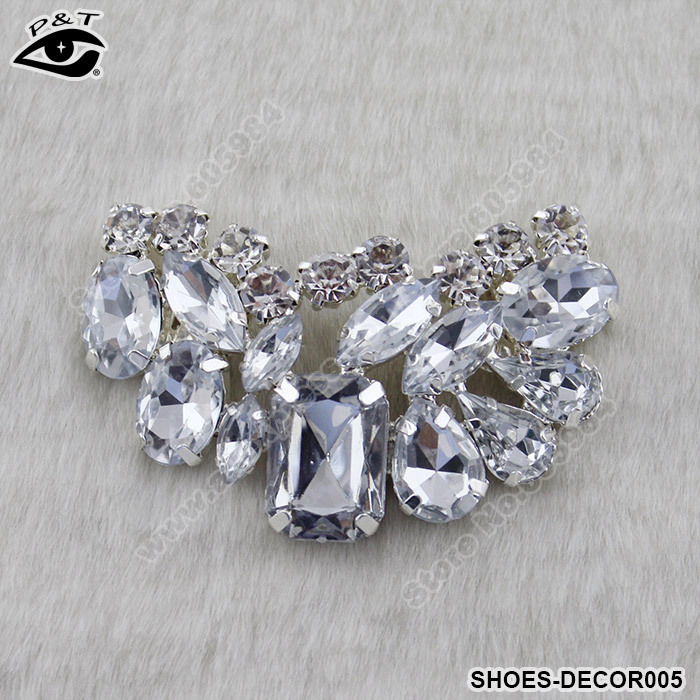 New Fashion Clip On Rhinestones Shoe Clip Wedding Shoes Decoration Accessories 6x3 5CM Free Shipping