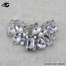 New Fashion Clip-On Rhinestones Shoe Clip Wedding Shoes Decoration Accessories 6×3.5CM Free Shipping