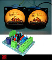 2pcs Panel VU Meter Warm Back Light Audio Level Amp One Driver Board FOR Amplifier