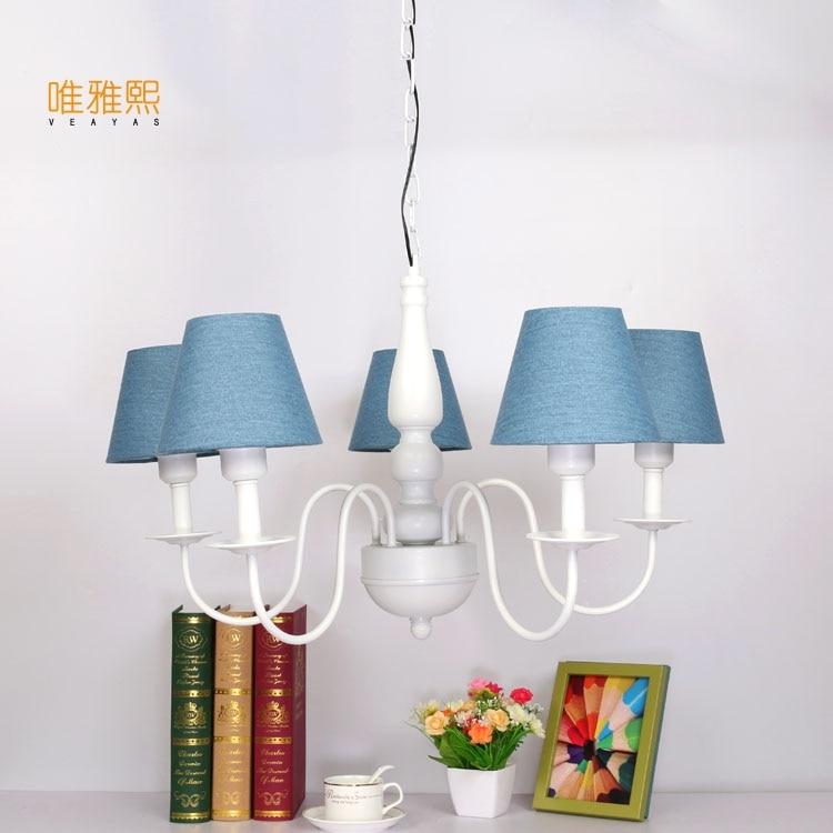 Veayas Princess lamp children bed room lighting romantic style E27 lamp holder 220V for living room Chandeliers free shipping