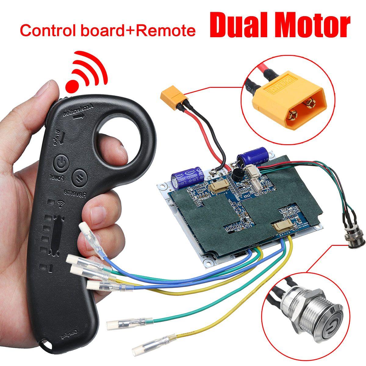 36 V double moteur électrique planche à roulettes Scooter contrôleur à distance ESC pièces Scooter carte mère Instrument outils accessoires