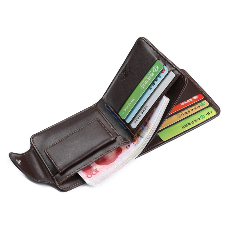 High quality Mens Wallets Coin pocket purse cash mezzanine Card slots card pack Casual bags High capacity trifold wallet