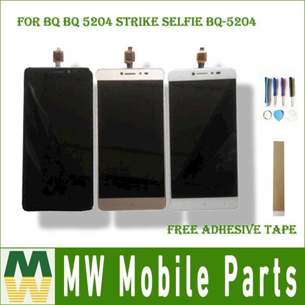 Für BQ BQ 5204 Strike Selfie BQ-5204 BQ5204 LCD Display Screen + Touch Screen Digitizer Montage Schwarz Weiß Gold Farbe mit Kit